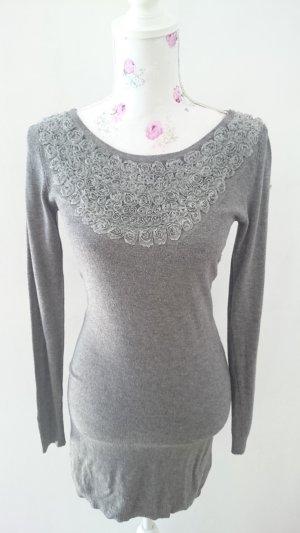 Maglione lungo grigio