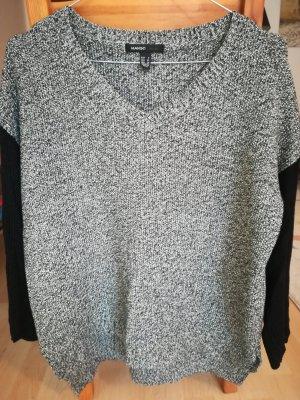 Mango Sweater black-silver-colored