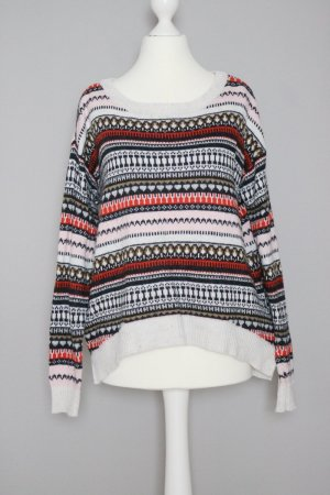 Pullover Gr. S aus Woll Mix mit Norweger Muster