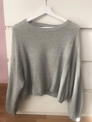 Bershka Knitted Sweater light grey