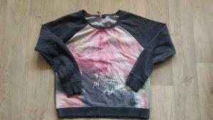 Crewneck Sweater dark grey-pink mixture fibre