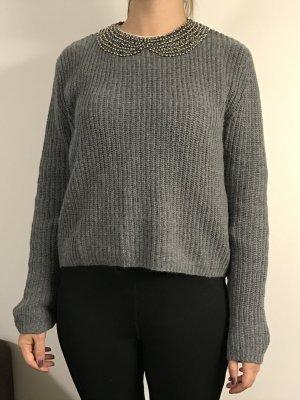 Zara Jersey gris Lana