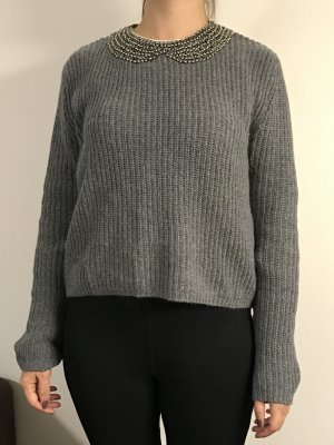 Pullover, grau, Größe M