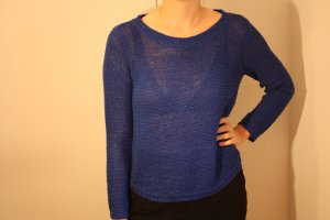 H&M Divided Coarse Knitted Sweater blue-steel blue mixture fibre