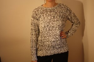 Coarse Knitted Sweater white-black polyacrylic