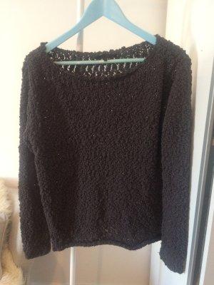 Pullover, Grobstrick, grau, Minimum, Größe M