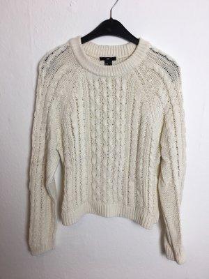 Pullover Grobstrick Sweater Creme weiß Pulli