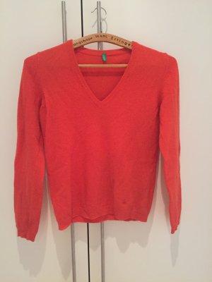 United Colors of Benetton Jersey de lana salmón-naranja