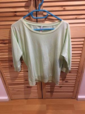 Sweater met korte mouwen lichtgroen