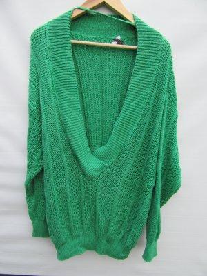 Vintage Gehaakte trui groen