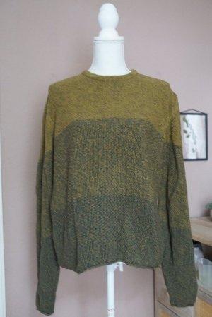 Maglione lavorato a maglia verde oliva-cachi Cotone