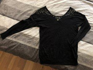 Guess Boothalsshirt zwart