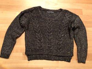 Guess Maglione nero-oro Tessuto misto
