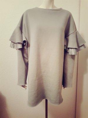H&M Vestido tipo jersey verde grisáceo