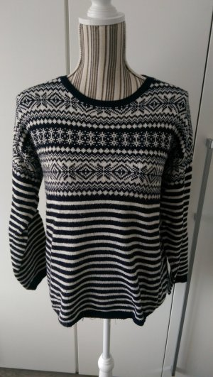 H&M L.O.G.G. Sweater wit-donkerblauw
