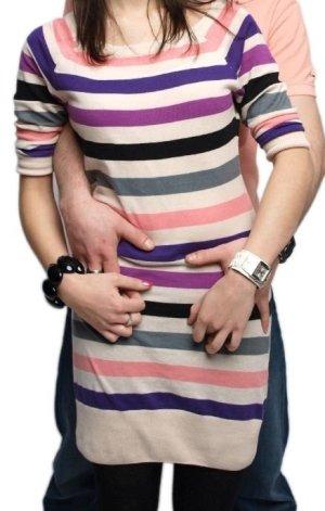 Pullover H&M Streifen gestreift vintage blogger hipster boho nude schwarz Kleid