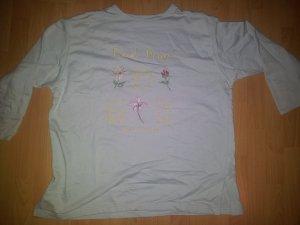 Pullover hellblau Blumen Stickerei Gr. 46