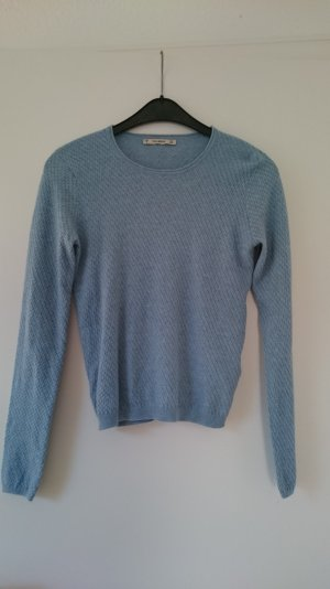 Pullover hellblau in Strickoptik