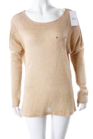 Pullover hellbraun mit Nieten