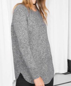 Pullover hellgrau aus Alpaka Wolle