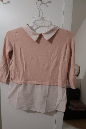 Atmosphere Maglione twin set rosa antico-bianco