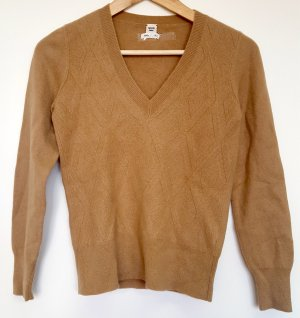 Hermès Pull en cashemire brun sable