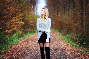 Pullover high low grau Baumwolle
