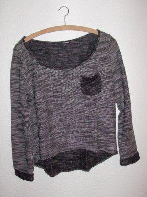 Pullover  hinten länger, vorne kürzer, strick, vorne links Täschchen