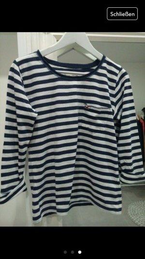 Pullover Hollister gestreift blau weiß Oberteil Bluse Blogger xs s 34 36