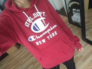 Pullover/ Hoodie Champion rot