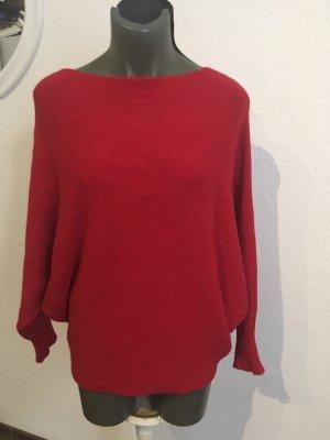 0039 Italy Pull tricoté rouge foncé