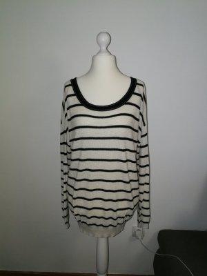 Pullover im Streifenlook mit Glitzergarn der Marke Promod in der Größe XL