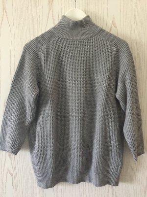 Pullover in Grau mit 3/4-Ärmeln