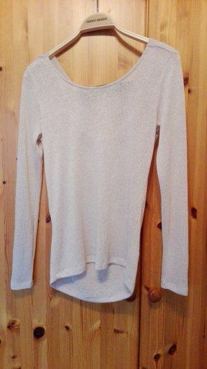 Pullover in hellbeige, Größe S