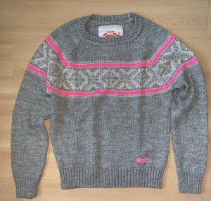 Superdry Noorse trui grijs-roze
