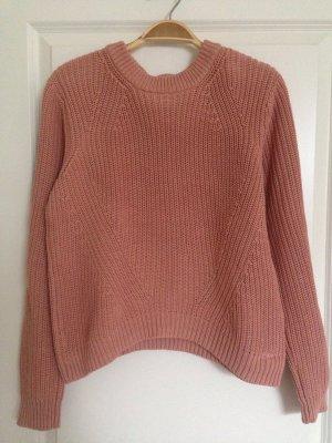 Pullover in Nude Farbe