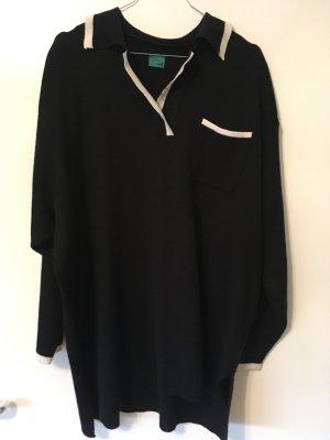 Pullover in Polooptik