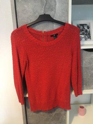 Grof gebreide trui rood