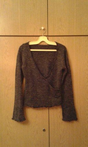 Pullover in Wickeloptik