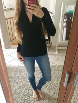 Pullover in Wickeloptik schwarz neuwertig