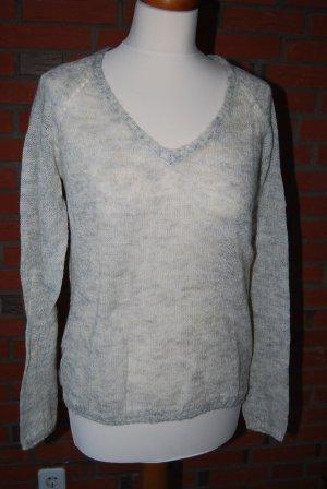 Pullover in wollweiß/grau meliert von Mango in Gr. M / 36 / 38