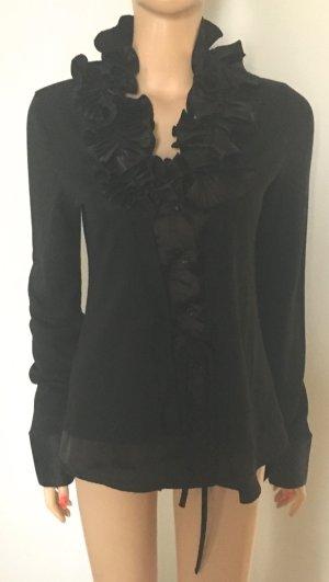 Short Sleeve Sweater black mixture fibre