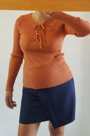Pullover kamel Gr.36 Schnürung