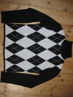 Pullover Karomuster mit silbernen Fäden Größe S