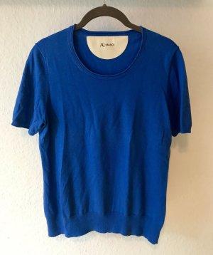 Pullover Kaschmir kurzärmlig Gr. 40 blau