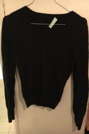 Pullover Kaschmir schwarz 34 V-Ausschnitt