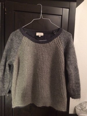 Pullover Kaschmir Wolle grau 36 S Pullover Strick