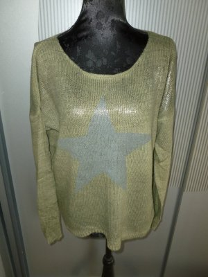 Pullover khaki Stern Made in Italy