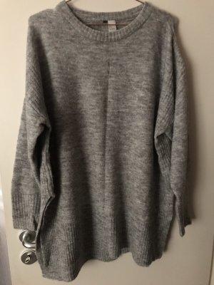 H&M Sweaterjurk grijs-lichtgrijs