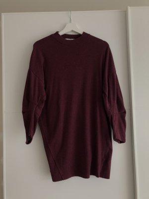 Pull & Bear Sweater Dress bordeaux